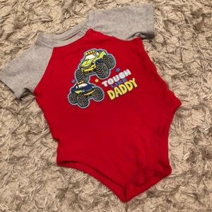 Tough like daddy monster truck onesie